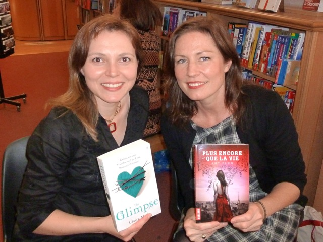 Claire Merle + Me at WH Smith, Paris