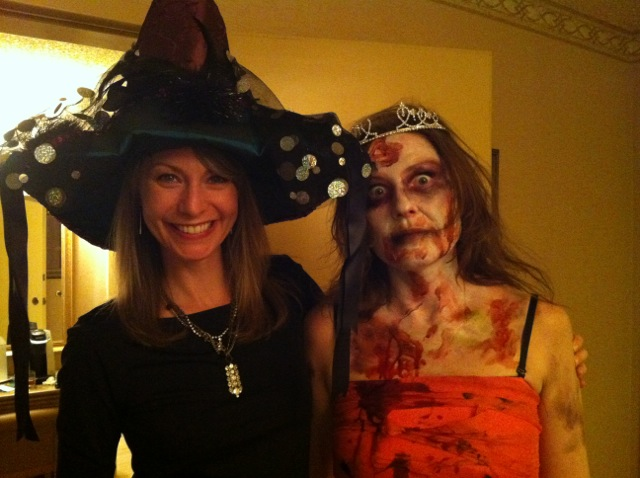 A witch and a zombie who just happen to bear a strong resemblance to Josie and me.