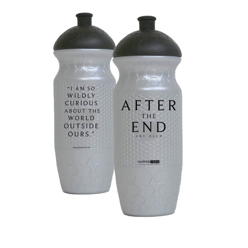 author's idea of what the mystery water bottles might look like