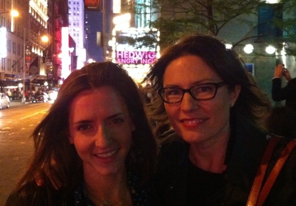 Anna and Amy on Broadway