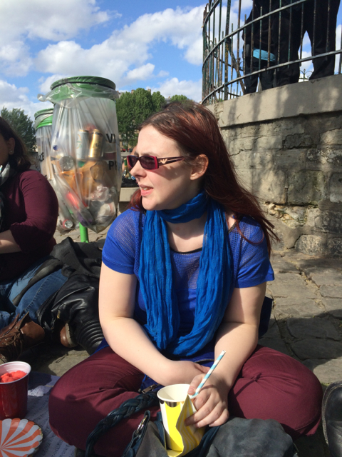 Laura enjoying the sunny Paris afternoon