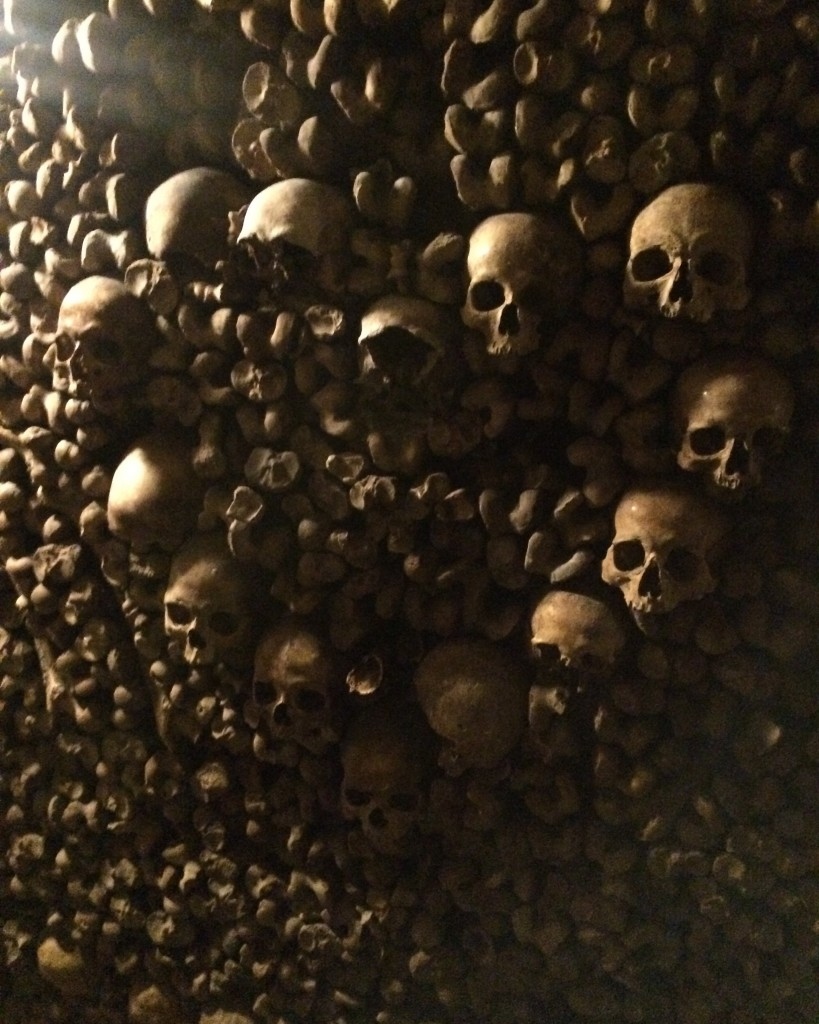 Paris's ossuary, during my last visit in December 2016.